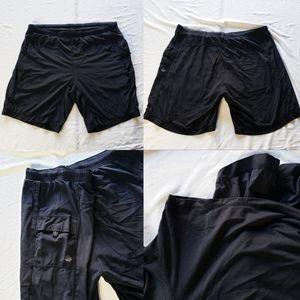 Lululemon Athletica black Athletic Shorts Gym Work